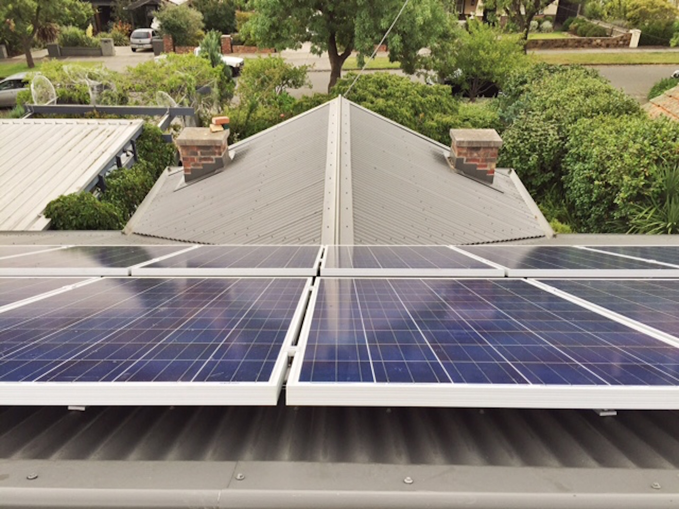 Happy customer harnesses the days solar to power house at night.