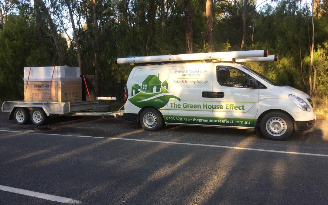New Green House Effect work van